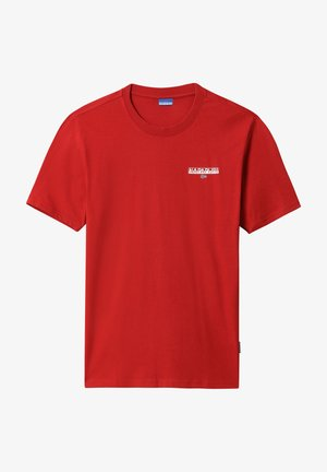 T-shirt z nadrukiem - old red