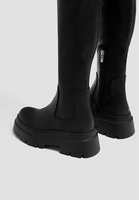 PULL&BEAR - Platform boots - black - 4