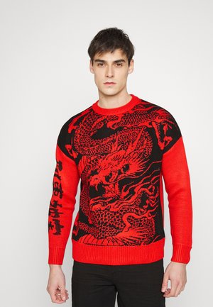 DRAGON KNITTED JUMPER - Neule - red