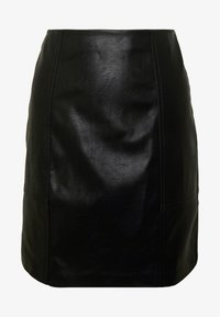 ONLY - ONLSKY FAUX - Mini skirt - black