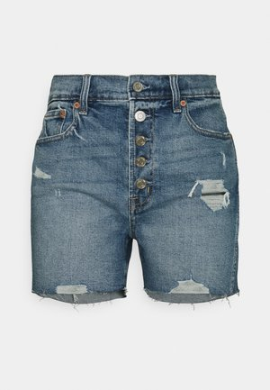 DARRO DEST - Shorts di jeans - medium wash