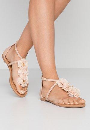 FLEURS  - Flip Flops - nude