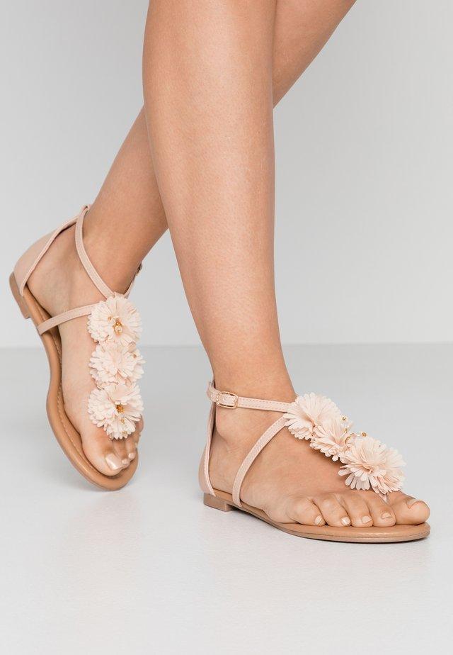 FLEURS  - Sandalias de dedo - nude