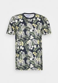 JORTROPIC TEE CREW NECK - Print T-shirt - navy blazer
