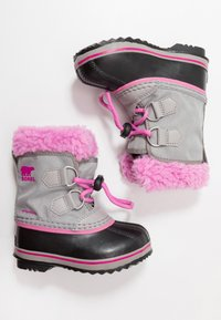 Sorel - CHILDRENS YOOT PAC - Winter boots - chrome grey/orchid - 0