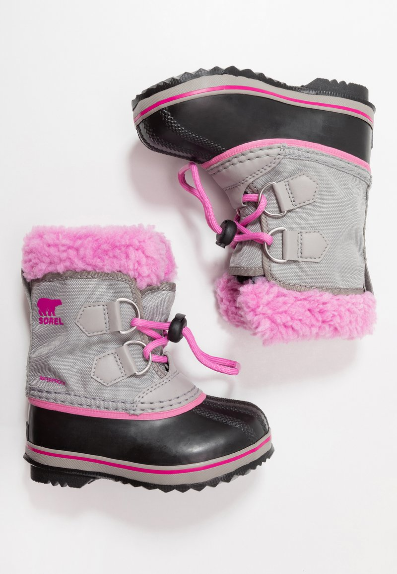Sorel - CHILDRENS YOOT PAC - Winter boots - chrome grey/orchid