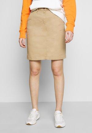 CLASSIC CHINO SKIRT - Pencil skirt - dark khaki