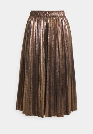 LADIES WOVEN SKIRT - Spódnica trapezowa - mat gold
