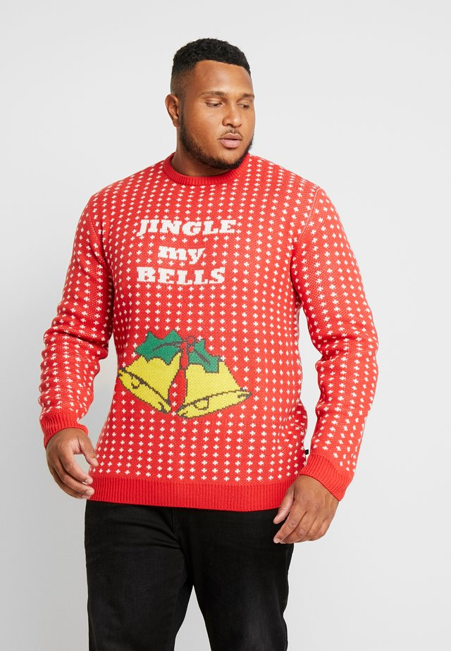 CHRISTMAS O-NECK - Neule - red