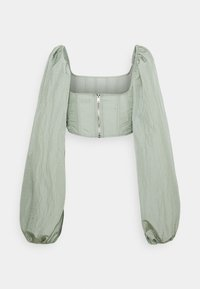 Missguided - BALLOON SLEEVE CORSET  - Long sleeved top - sage - 1