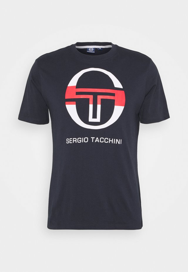 IBERIS - Camiseta estampada - navy/white/red
