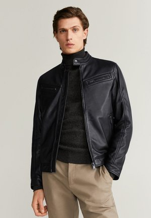 CUIR - Leather jacket - schwarz