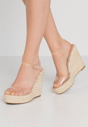 ZERRASEN - High heeled sandals - clear