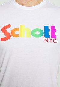 Schott - LOGO - Print T-shirt - white - 5