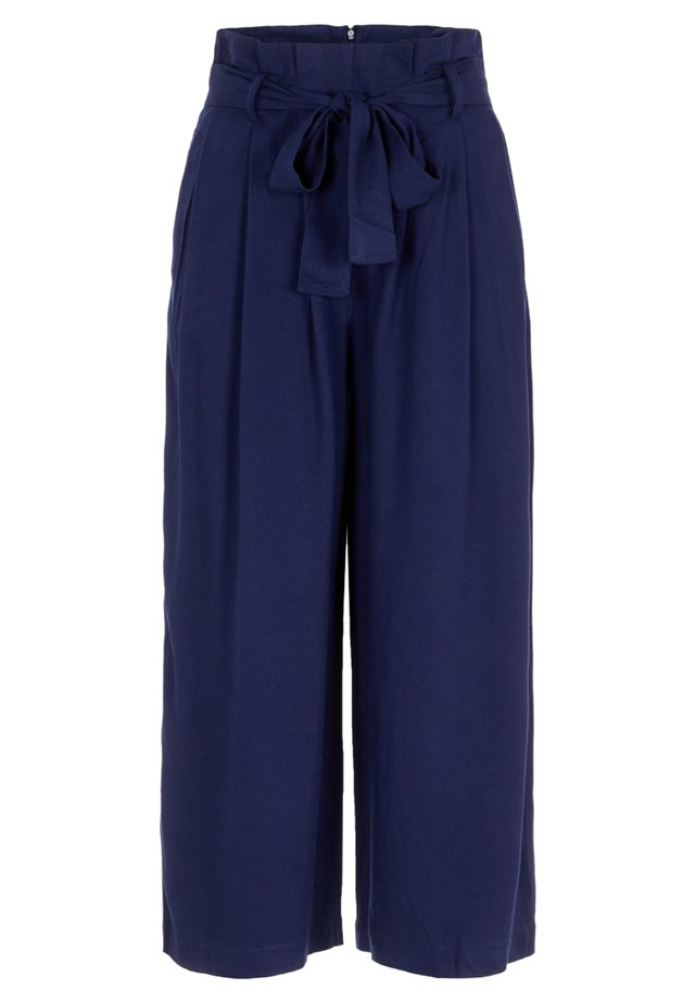 PIECES CULOTTES PAPERBAG VISKOSE - Trousers - maritime blue