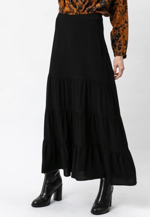 ASPECT - Maxi skirt - jet black