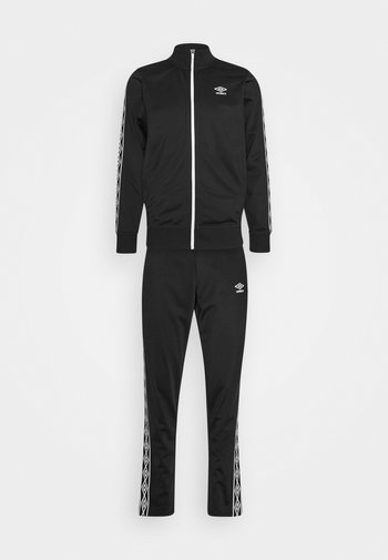 ACTIVE STYLE TAPED TRACKSUIT - Survêtement - black/white