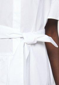 TWINSET - ABITO MORBIDO IN COMFORT - Shirt dress - bianco ottico - 7
