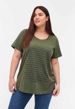 MIT PRINT - Print T-shirt - green