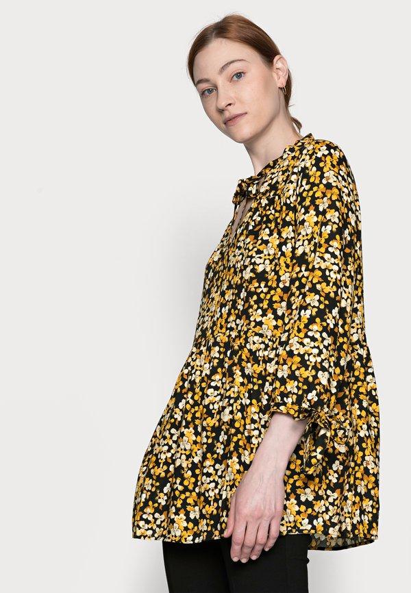 Dorothy Perkins Tall SPOT SMOCK WOVEN - Tunika - yellow/black/wielokolorowy HEJW