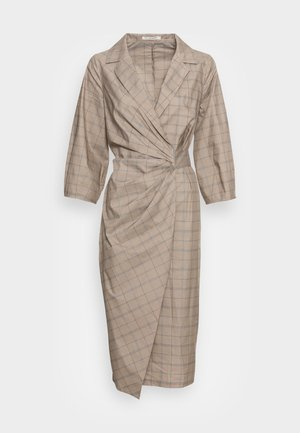 GITTA WRAP DRESS - Vapaa-ajan mekko - beige check