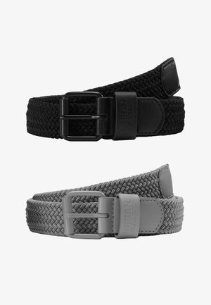 ELASTIC BELT 2 PACK - Flettet belte - black/grey
