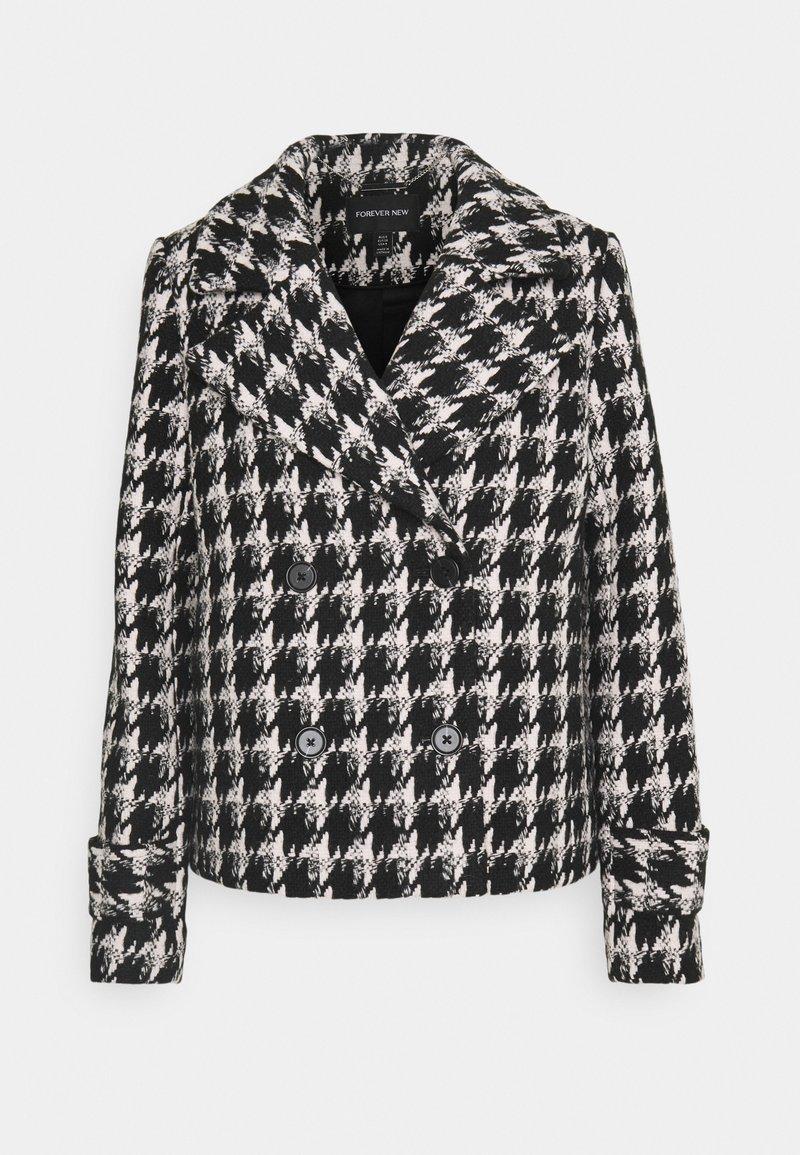 Forever New - HOLLY HOUNDSTOOTH JACKET - Short coat - black