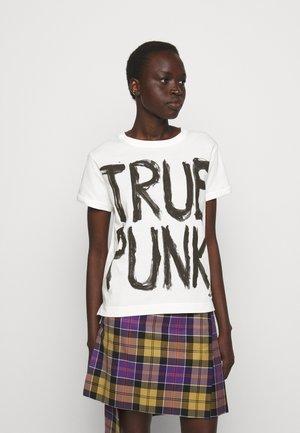 LADY PUNK - Camiseta estampada - white