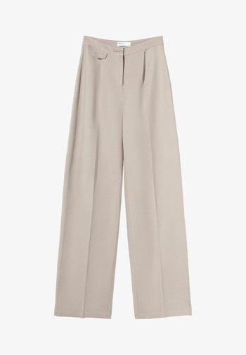 WIDE LEG - Kalhoty - beige