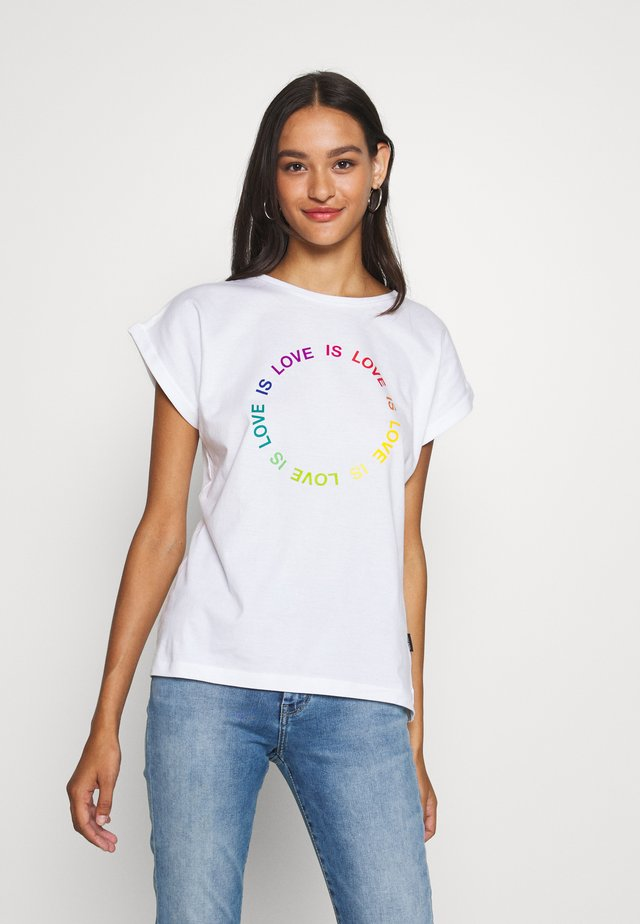 VISBY LOVE CIRCLE - T-shirt z nadrukiem - white