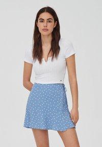 PULL&BEAR - A-line skirt - dark grey - 4