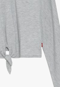 Levi's® - DOLMAN TIE FRONT - Long sleeved top - grey heather - 2