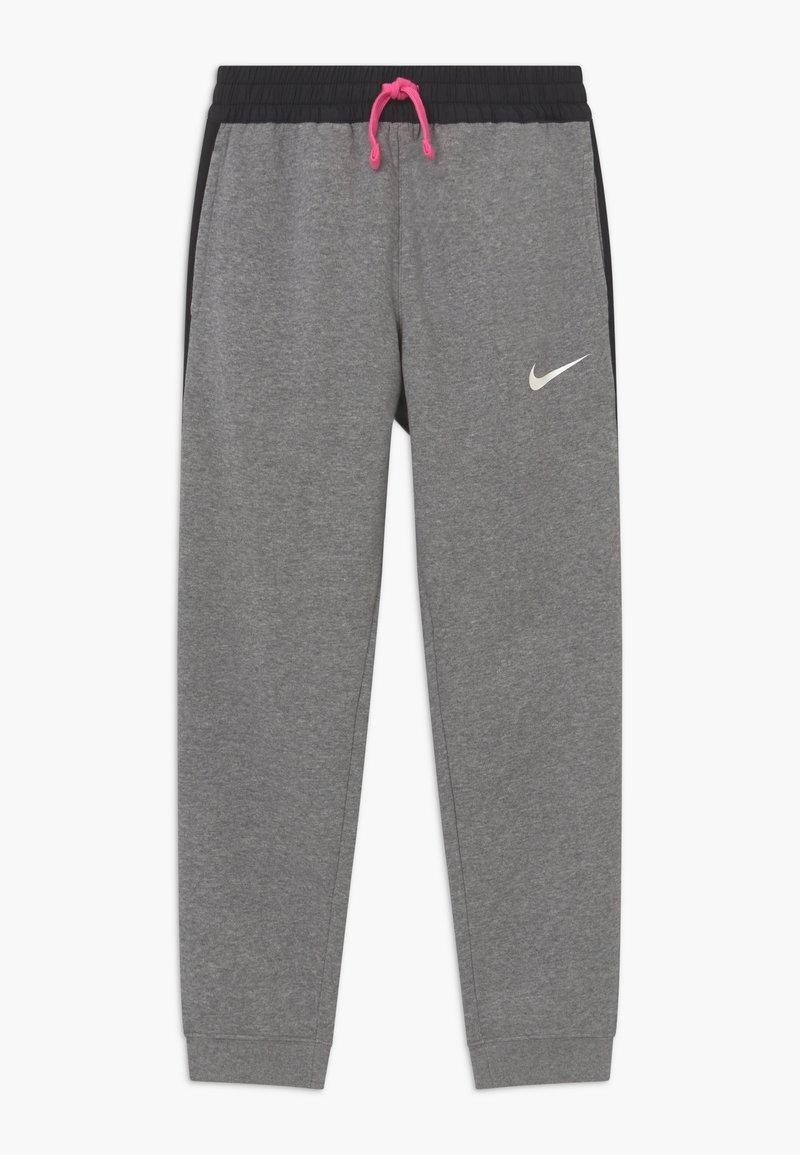 Nike Performance - KYLIAN MBAPPE HYBRID - Tracksuit bottoms - carbon heather/black/white