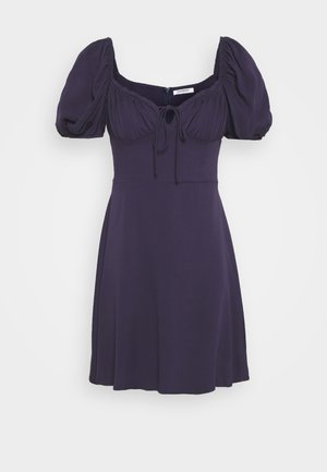 BUST DETAIL MINI DRESS - Day dress - purple