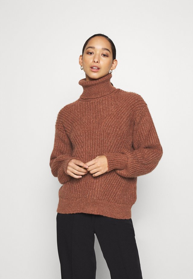 YASBRAVO ROLL NECK - Jumper - burlwood