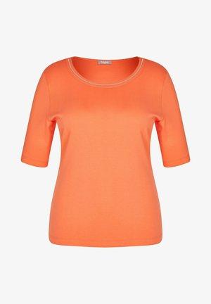 MIT UNIFARBENEM STOFF UND RUNDHALSAUSSCHNITT - T-Shirt print - orange