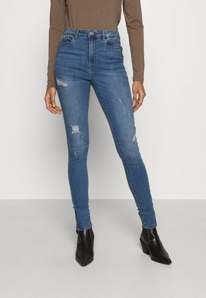 VMSOPHIA SHAPE UP ZIP  - Skinny džíny - light blue denim