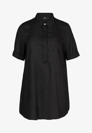 MIT KRAGEN - Tunic - black