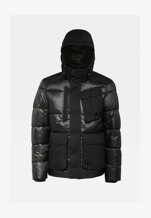 UTILITY POCKET PUFFER JACKET - Winter jacket - dk black