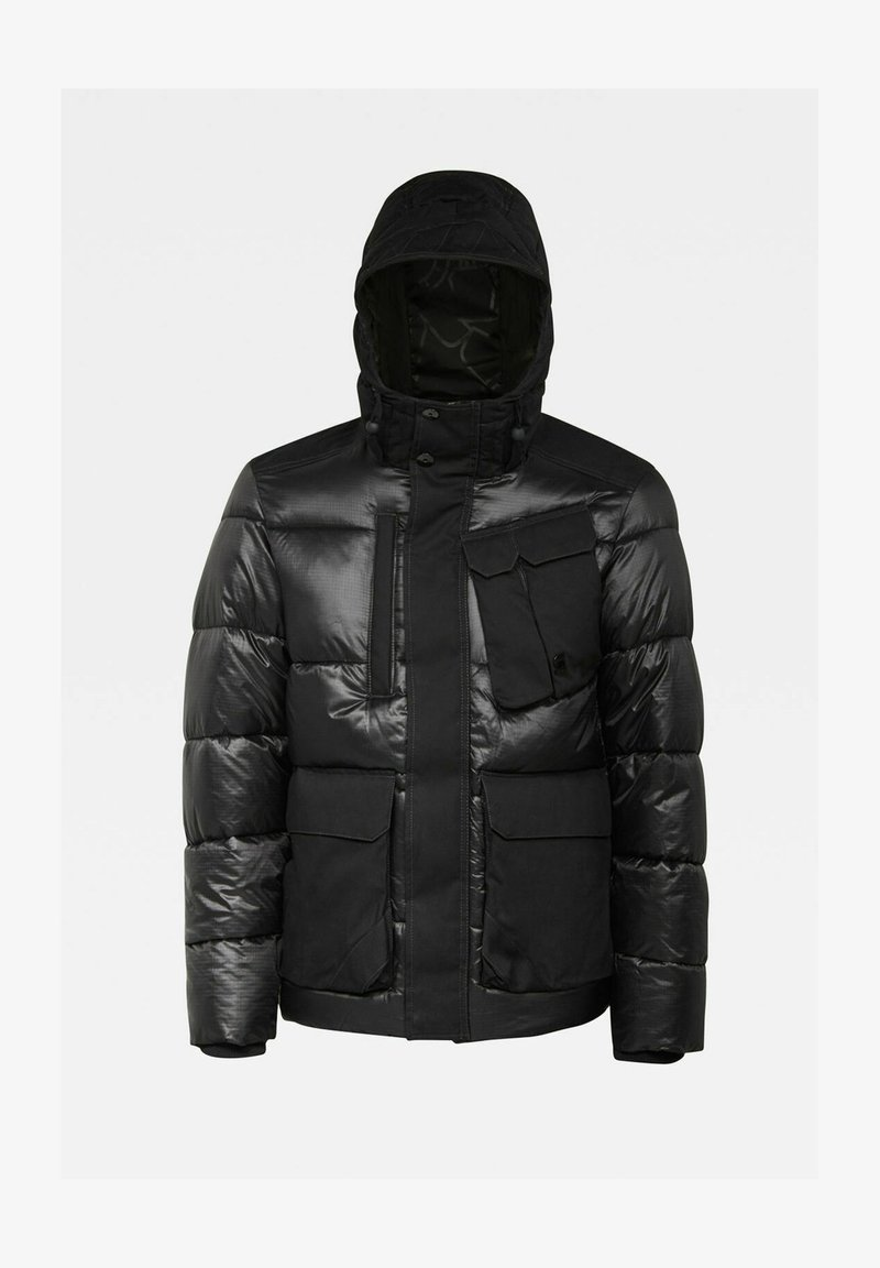 G-Star - UTILITY POCKET PUFFER JACKET - Winter jacket - dk black