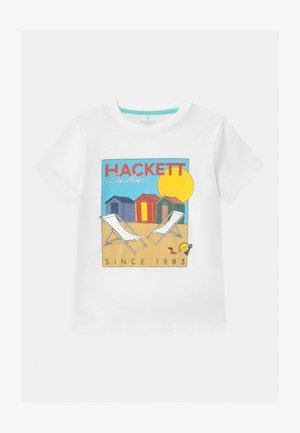 BEACH HUT  - Print T-shirt - white