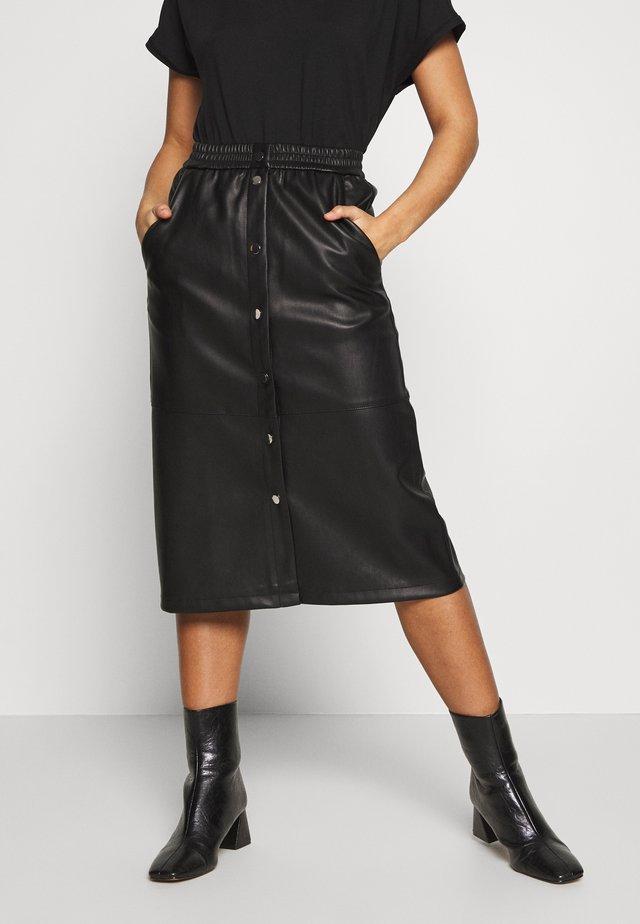 VIPULLA MIDI SKIRT - A-line skirt - black