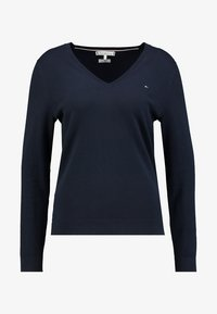Tommy Hilfiger - HERITAGE V NECK  - Sweter - midnight - 3