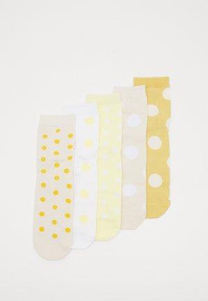 Ponožky - beige/yellow/white