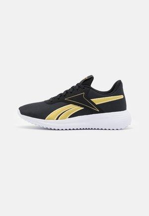 LITE 3.0 - Chaussures de running neutres - core black/gold metallic/footwear white