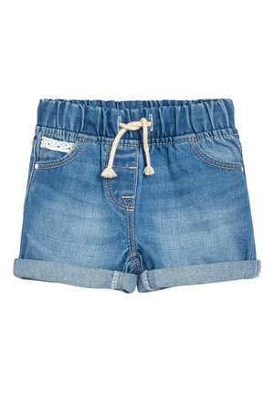 DENIM BLUE PULL-ON SHORTS (3MTHS-10YRS) - Shorts vaqueros - blue