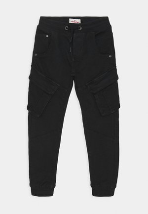 CARLOS - Cargo trousers - deep black