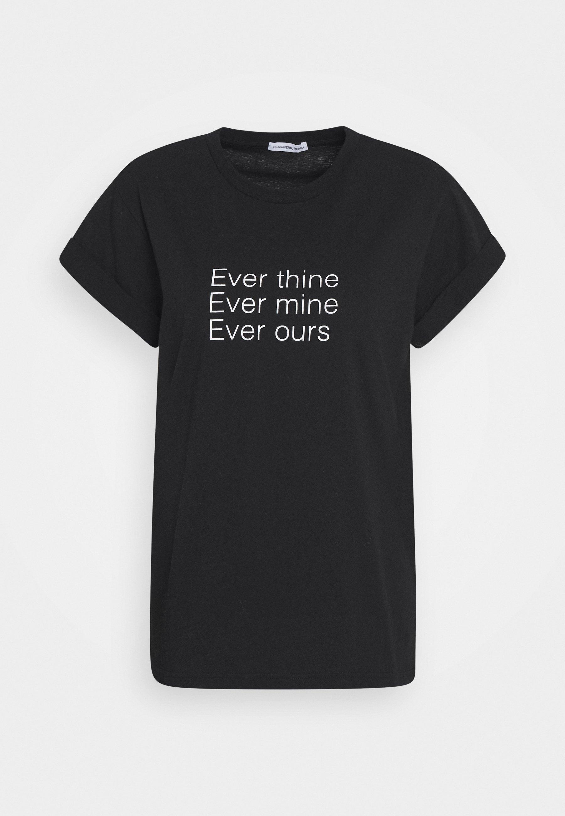 Black t-shirt  Designers Remix  T-Skjorter - Dameklær er billig