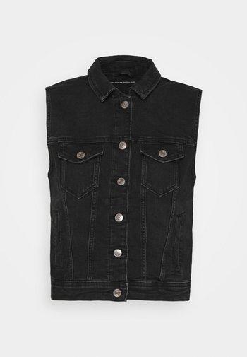ONLTIA VEST LIFE - Waistcoat - black denim