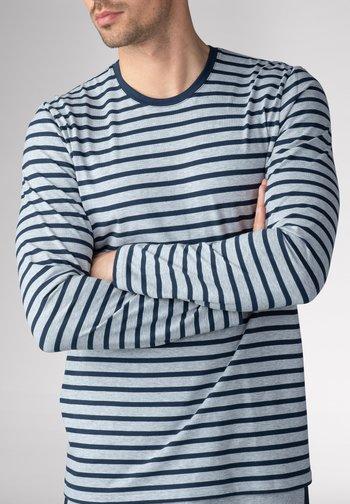 NACHTWÄSCHE SHIRT - Long sleeved top - light grey melange